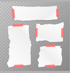 torn square paper set vector image