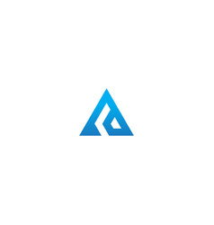 triangle pyramid shape company logo vector image