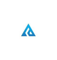 Triangle pyramid shape company logo vector
