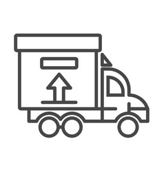 truck delivery box icon outline style vector image