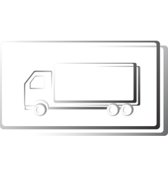 Truck icon in frame vector