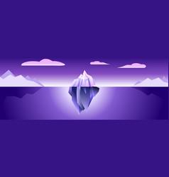 Ultra violet iceberg banner vector