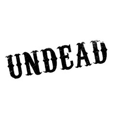 Undead rubber stamp vector
