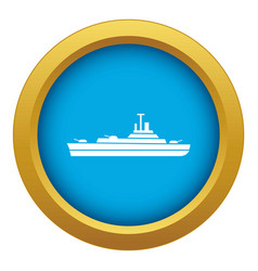Warship icon blue isolated vector