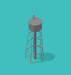 water tower single common watertower building vector image