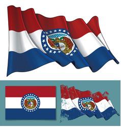 waving flag state missouri vector image