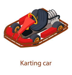 Karting car icon isometric 3d style vector
