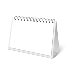 mock up Desk Calendar vector image