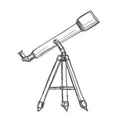 telescope for watching sky vector image