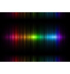 Vertical lines abstract rainbow dark top center vector
