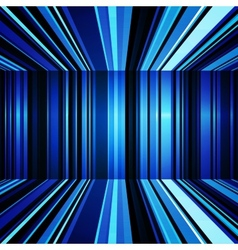 Abstract blue and white warped stripes background vector image