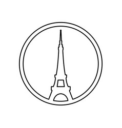eiffel tower architecture vector image