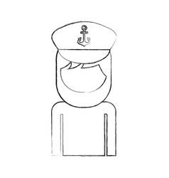 sailor captain avatar character vector image