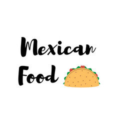 taco traditional mexican food label vector image