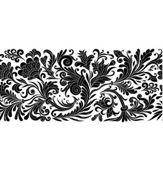 vintage floral baroque seamless border with vector image vector image
