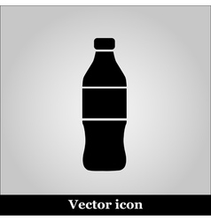 Bottle Icon on grey background vector image vector image