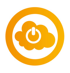 color circular emblem with cloud service power vector image