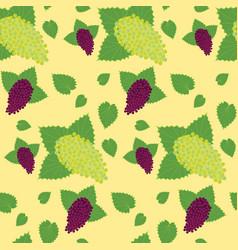 Flat berry seamless pattern vector
