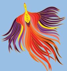 flying phoenix vector image vector image