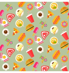 Food Pattern 2 vector image vector image