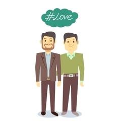 happy gay LGBT men pair in love vector image vector image