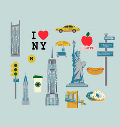icons by topic new york vector image