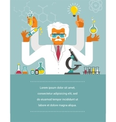 Mad Scientist - Research Bio Technology vector image vector image