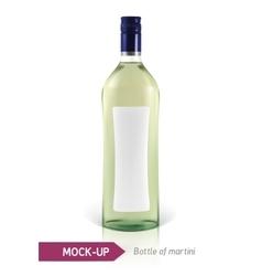 Mockup martini bottle vector image vector image