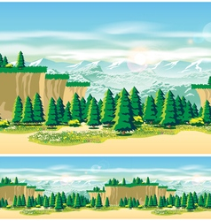 picturesque valley vector image