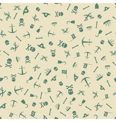 Pirate Seamless Pattern Background vector image