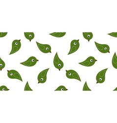 Seamless green birds vector