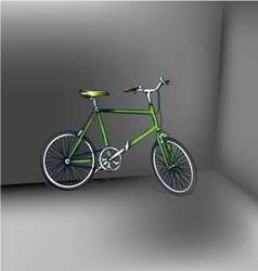 Bicycle green eps10 vector image vector image