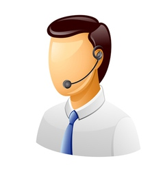 customer support icon vector image vector image