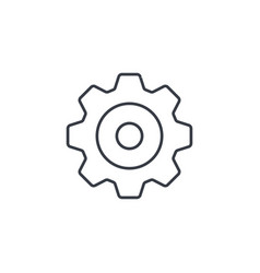 gear mechanism thin line icon linear vector image vector image