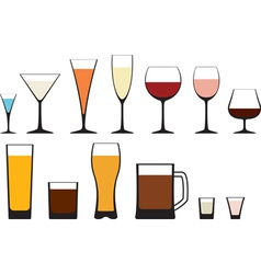 glass vector image vector image