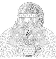 Happy Santa with vector image