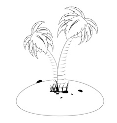 Tropic Island in Black and White vector image vector image