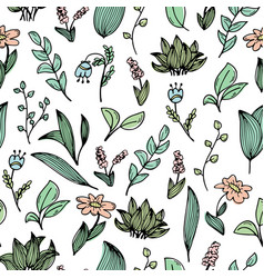 A seamless pattern with hand-drawn doodles of vector