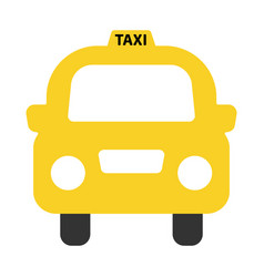 a simple icon of a generic yellow taxi vector image vector image