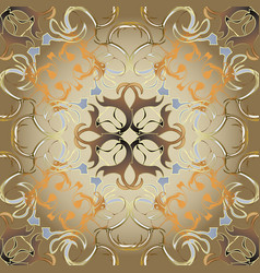 abstract antique baroque style gold seamless vector image