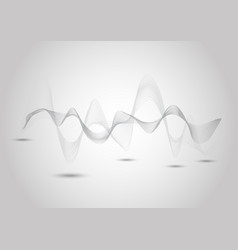 Abstract dynamic line on gray background vector