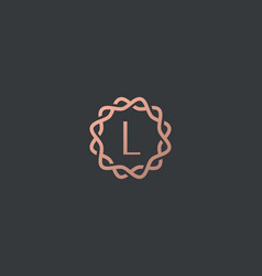Abstract linear monogram letter l logo icon design vector