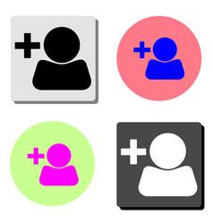 Add user profile flat icon vector