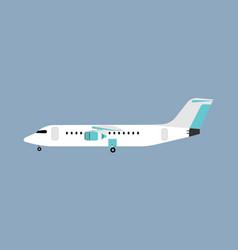 Airliner transportation journey white plane side vector