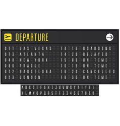 Airport or railroad realistic scoreboard vector
