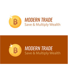 bitcoin golden sign - logo on vector image