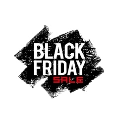 Black friday text on grunge background vector