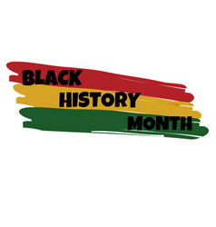 black history month hand lettering card banner vector image