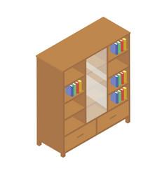Bookcase isometric vector