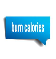 burn calories blue 3d speech bubble vector image